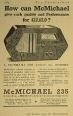 McMichael Advertisement Model 235