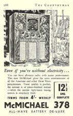 McMichael Advertisement Model 378