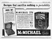 McMichael Advertisement Models 367 and 374